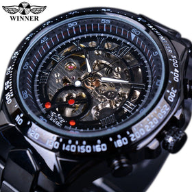 Black Dial Stainless Steel Champ