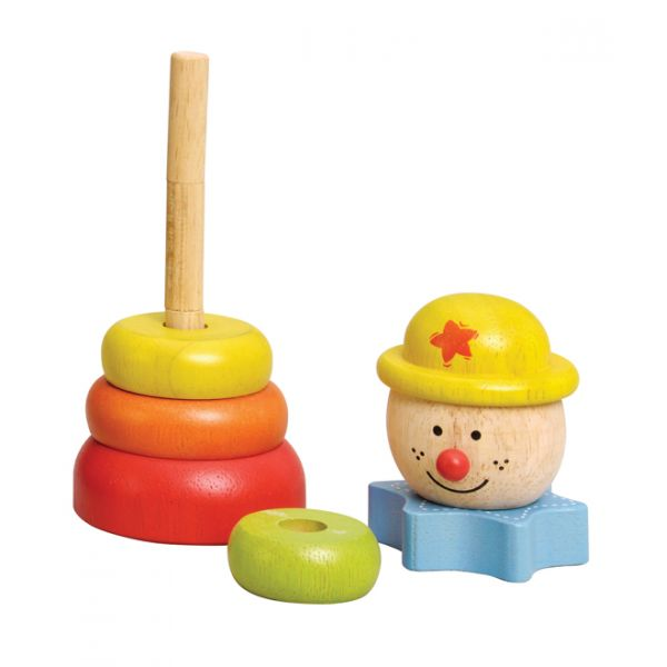Clown Stacker - Wooden