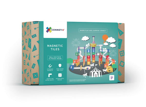 PRE ORDER Connetix Tiles - 92 Piece Ball Run Pack