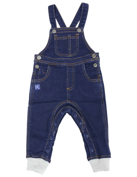 Over the Moon Denim Knit Overall - Dark