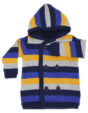 Knit Hooded Jacket - Navy Stripe
