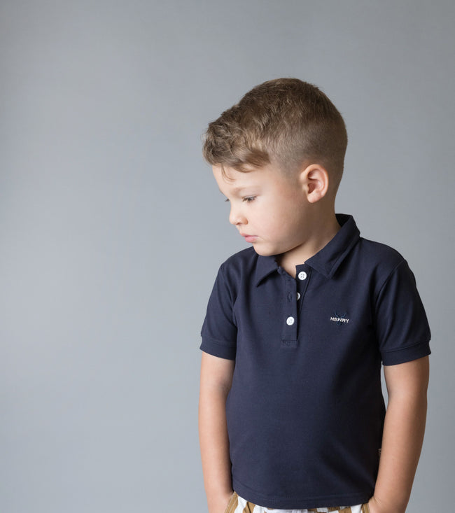 Boys Polo Shirt - Navy