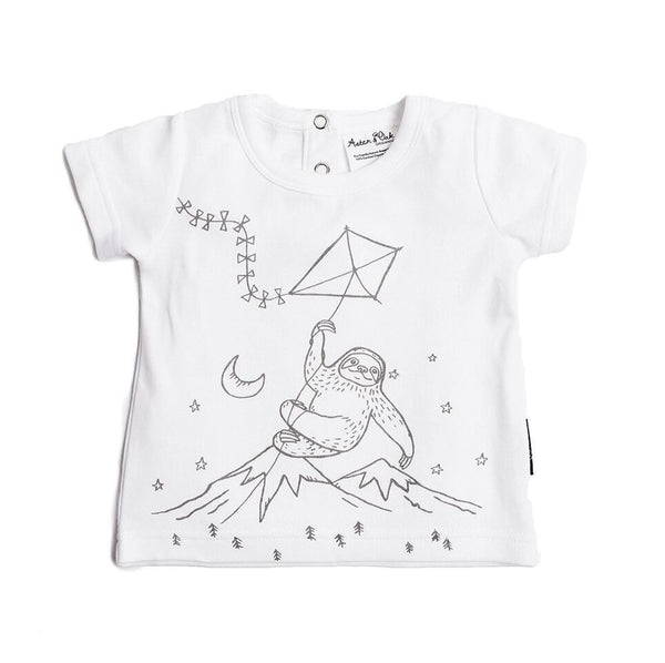 Adventure Sloth Print Tee - LAST ONE size 0