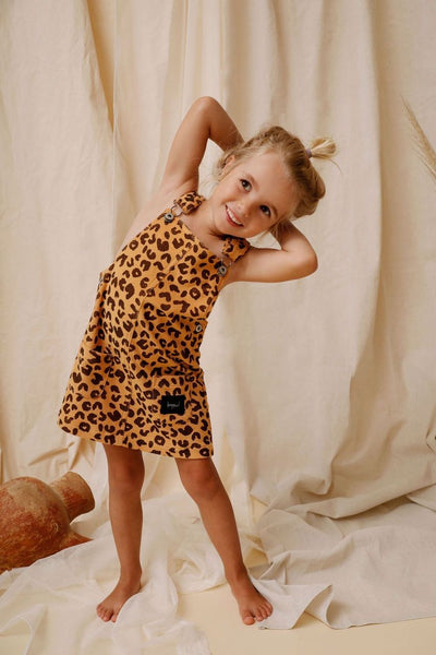 Animal Print Terry Towelling Pinafore