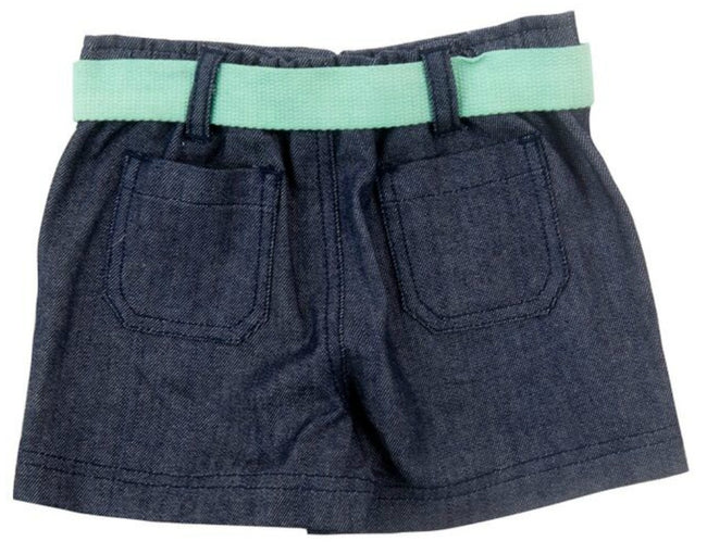 Plum | Denim Shorts with Belt | Size 1