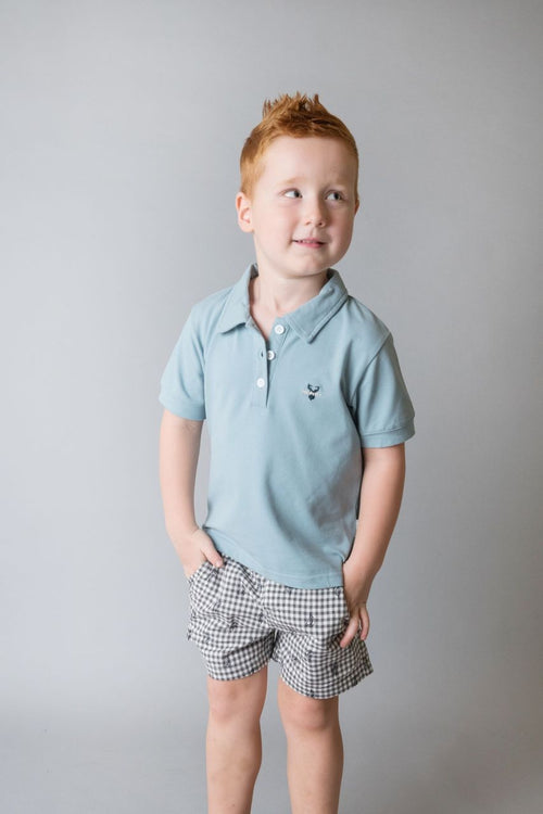 Boys Polo Shirt - Light Turquoise