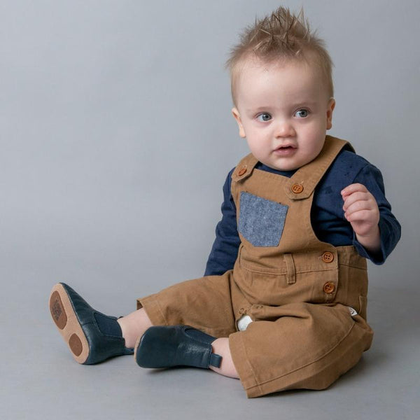 Baby Boys Roy Dungaree - Brown
