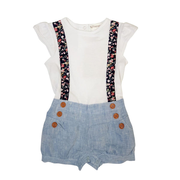 Love Henry | Baby Girls Lola Playsuit - Paris Picnic