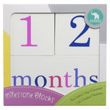 Milestone Blocks - Girl (White)