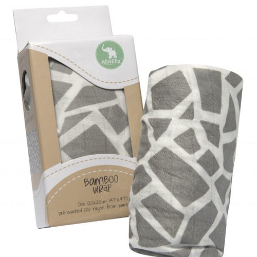 Bamboo Wrap – Geometric Grey