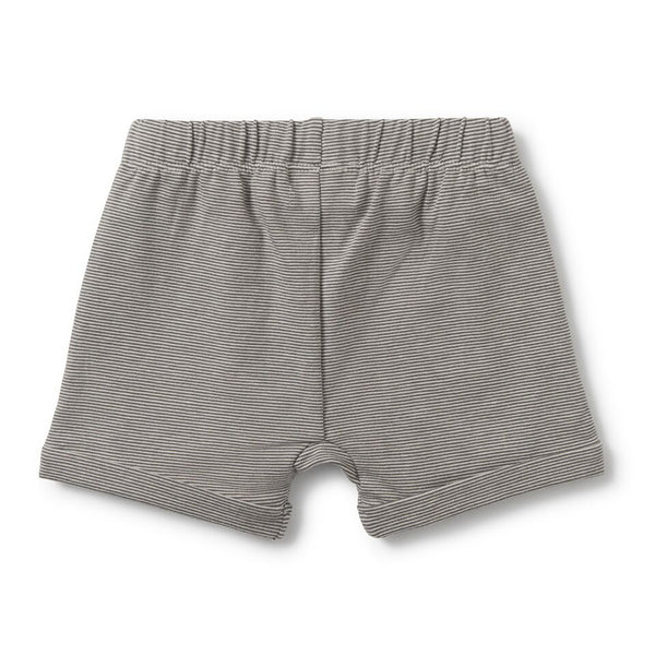 Charcoal Slouch Shorts
