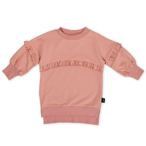 Dusty Rose Frill Sweater