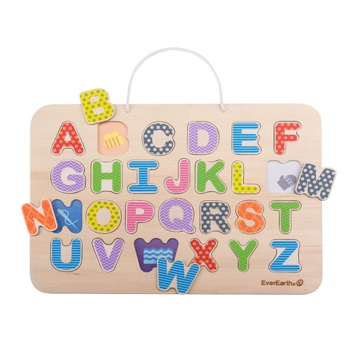 Magnetic Alphabet Puzzle & Drawing Board