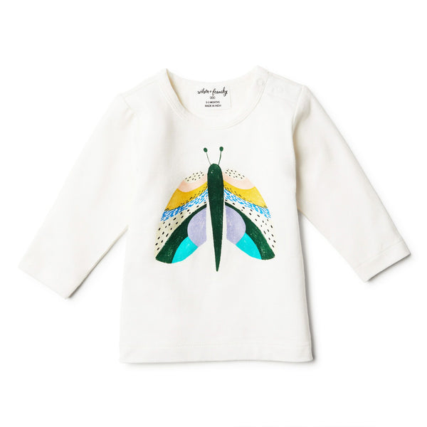 Flutter By Organic Long Sleeve Top