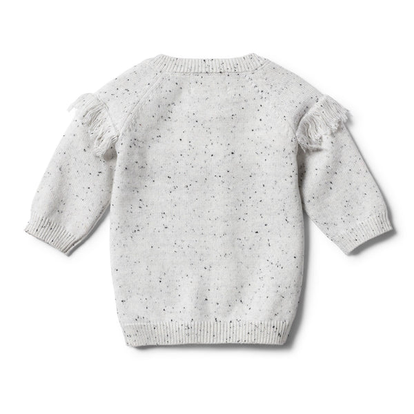 Grey Speckle Knitted Jumper