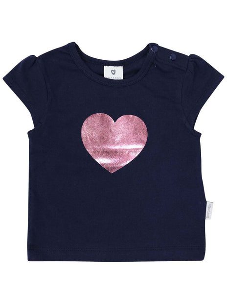 Heart Top - Navy