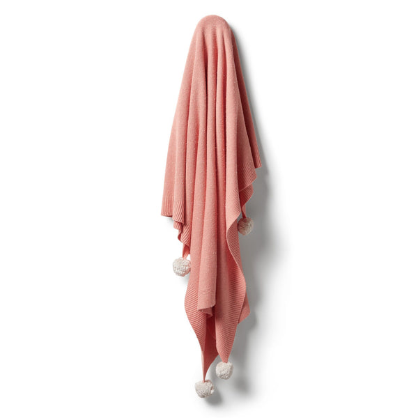 Knitted Blanket - Flamingo Fleck