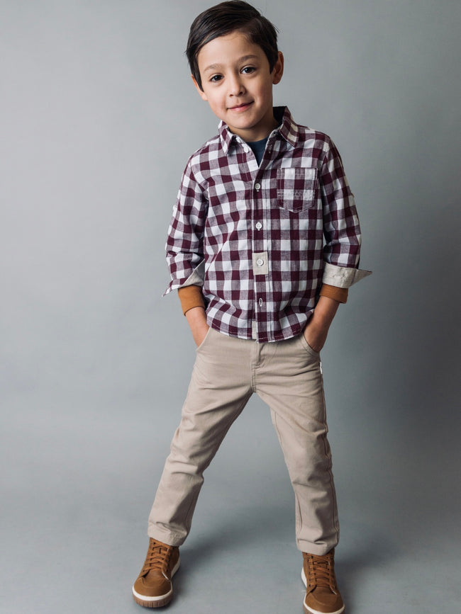 Boys Dress Chino Pant - Taupe