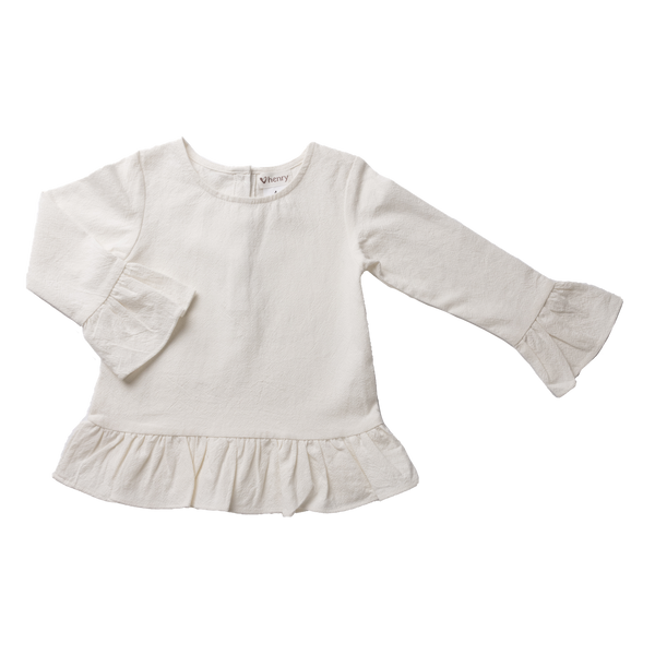 Logan Peplum Top - White