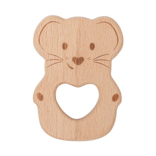 Kippin Natural Beech Wood Teething Toy - Luna