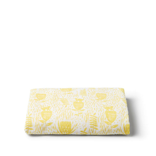 Mellow Yellow Muslin Wrap