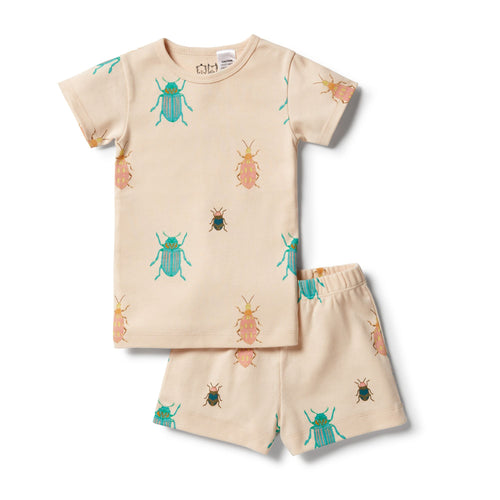 Organic Short Sleeve Pyjamas - Bugs