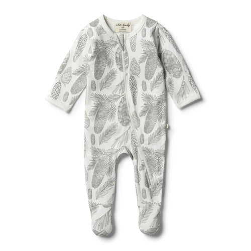 Organic Little Spruce Zipsuit