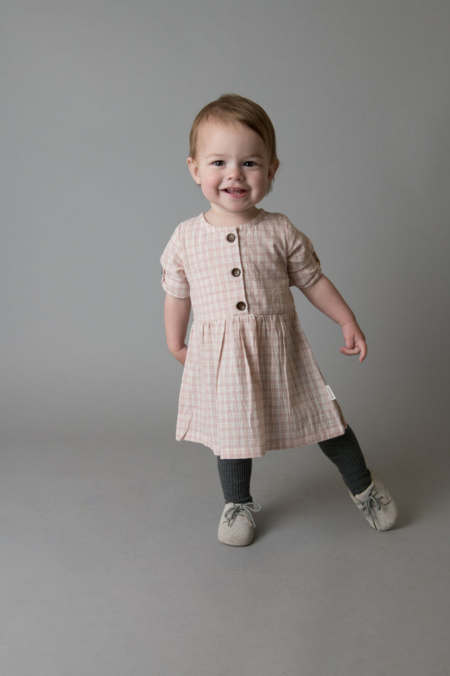 Rosie Dress - Pink Check