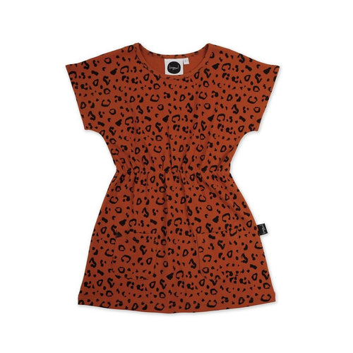 Rust Cheetah Pocket Dress