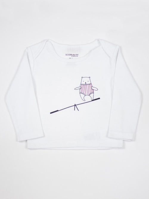 Bear On A Seesaw Tee - IN STOCK size 00, 1