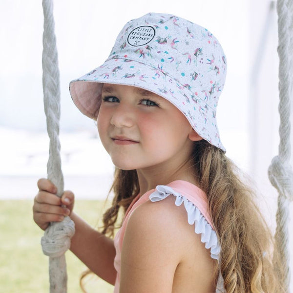 Sparkles Unicorn Reversible Bucket Hat