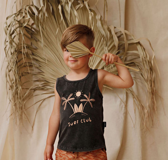 Surf Club Placement Sleeveless Tank