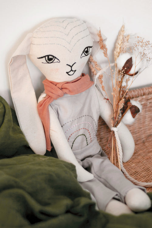 Winslow Bunny Doll - Grey