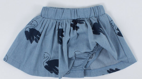 Tiny Tribe | Swan Chambray Skort | Size 000