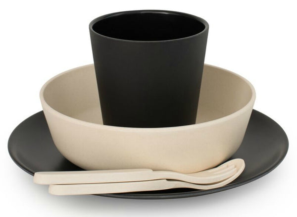 Bamboo Dinnerware Set - Monochrome