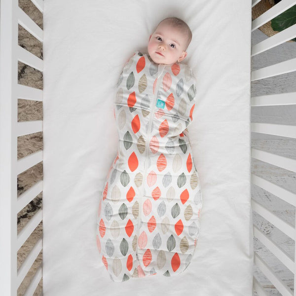 ergoCocoon Winter Swaddle and Sleep Bag (2.5 tog) - Blush Leaf