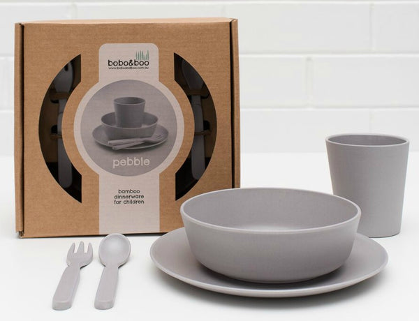 Bamboo Dinnerware Set - Pebble