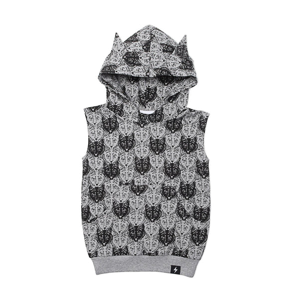 Wolf Camo Hooded Vest