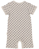 Lightning Bolts Short Sleeve Romper - Grey