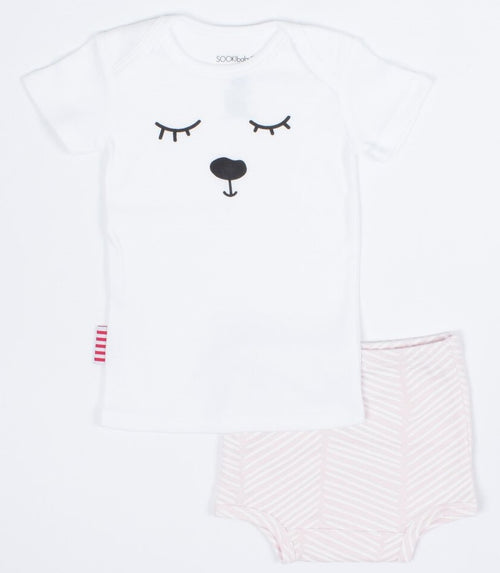 Oh Deer Tee Nappy Pant & Tee Two Piece Set