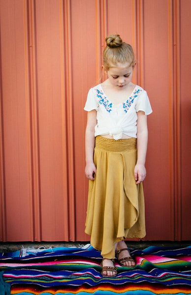 Mustard Midi Skirt - IN STOCK size 3, 4