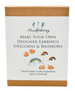 Make Your Own Designer Earrings - Unicorns & Rainbows