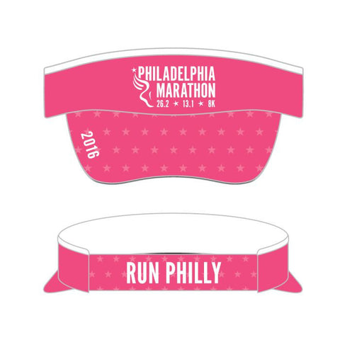 Philadelphia Marathon: 'Event Logo' Tech Visor - Pink - by Boco