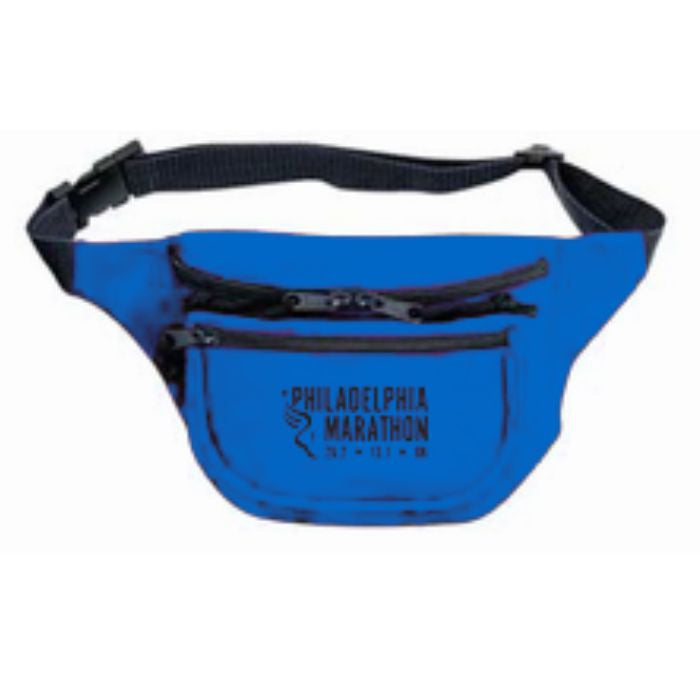 Philadelphia Marathon: 'Event Logo' 3-Pocket Nylon Fanny Pack - Royal