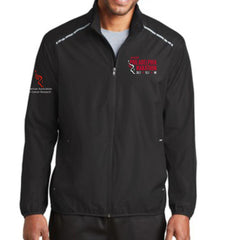 Philadelphia Marathon: 'Emb. Marathon' Men's Reflective Lightweight Full Zip Jacket - Black - by Port Authority