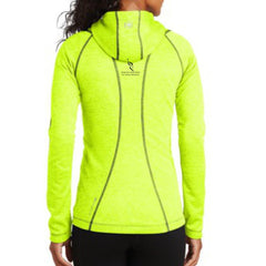 AACR Philadelphia Marathon: 'Emb. Marathon' Women's Heathered Fleece Hooded Full Zip Jacket - Pace Yellow - by OGIO