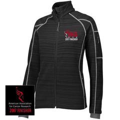 Philadelphia Marathon: '2017 Emb. Finisher 26.2' Women's 'Deviate' Full Zip Bonded Tech Jacket - Black - by Holloway