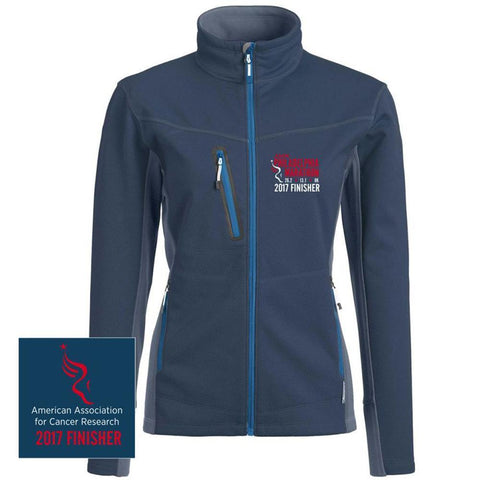 AACR Philadelphia Marathon: '2017 Emb. Finisher 26.2' Women's Full Zip Tech Jacket - Midnight Navy - by Landway