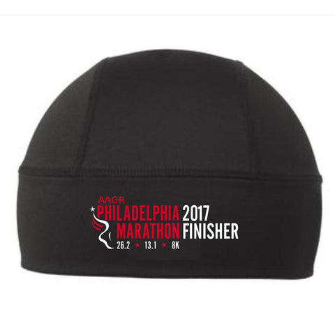 Philadelphia Marathon: '2017 Emb. Finisher 26.2' Technical Double-knit Beanie - Black - by OGIO
