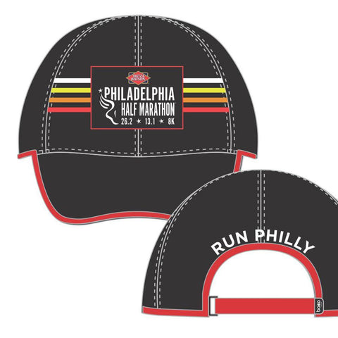 Philadelphia Marathon: 'Half Marathon' Elite Tech Cap - Black / Orange - by Boco